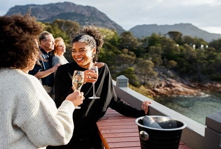 Freycinet Lodge sunset deck 00024